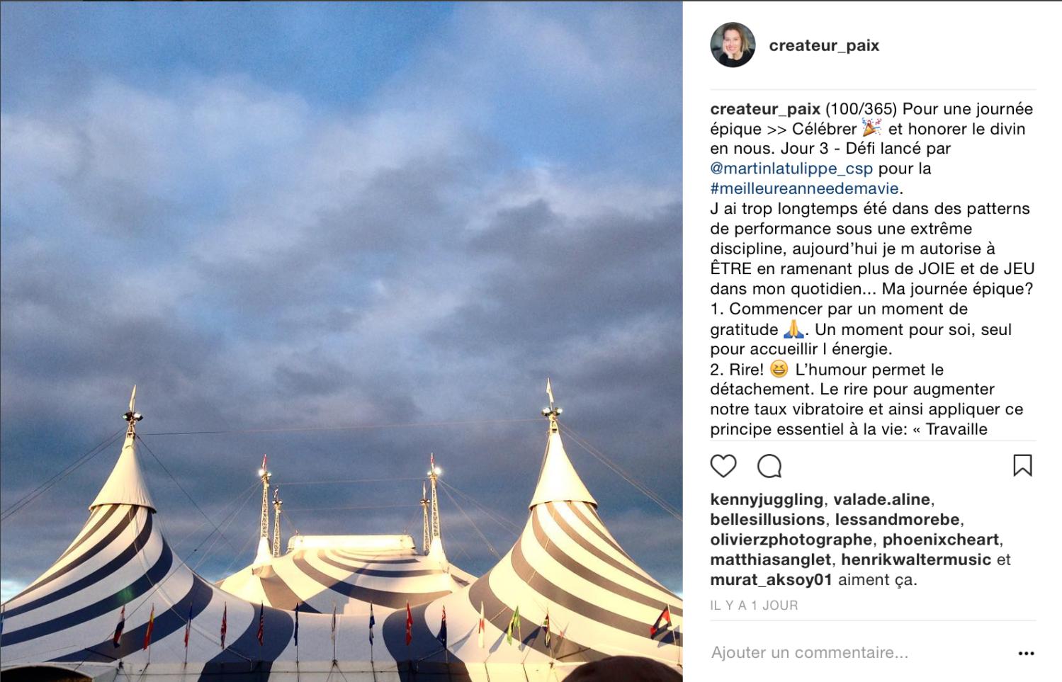 Cirque du Soleil - Créateur Paix - Créateur recherche Paix intérieure