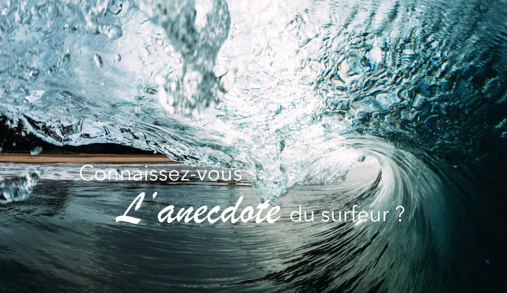 La vague ou l'anecdote du surfeur