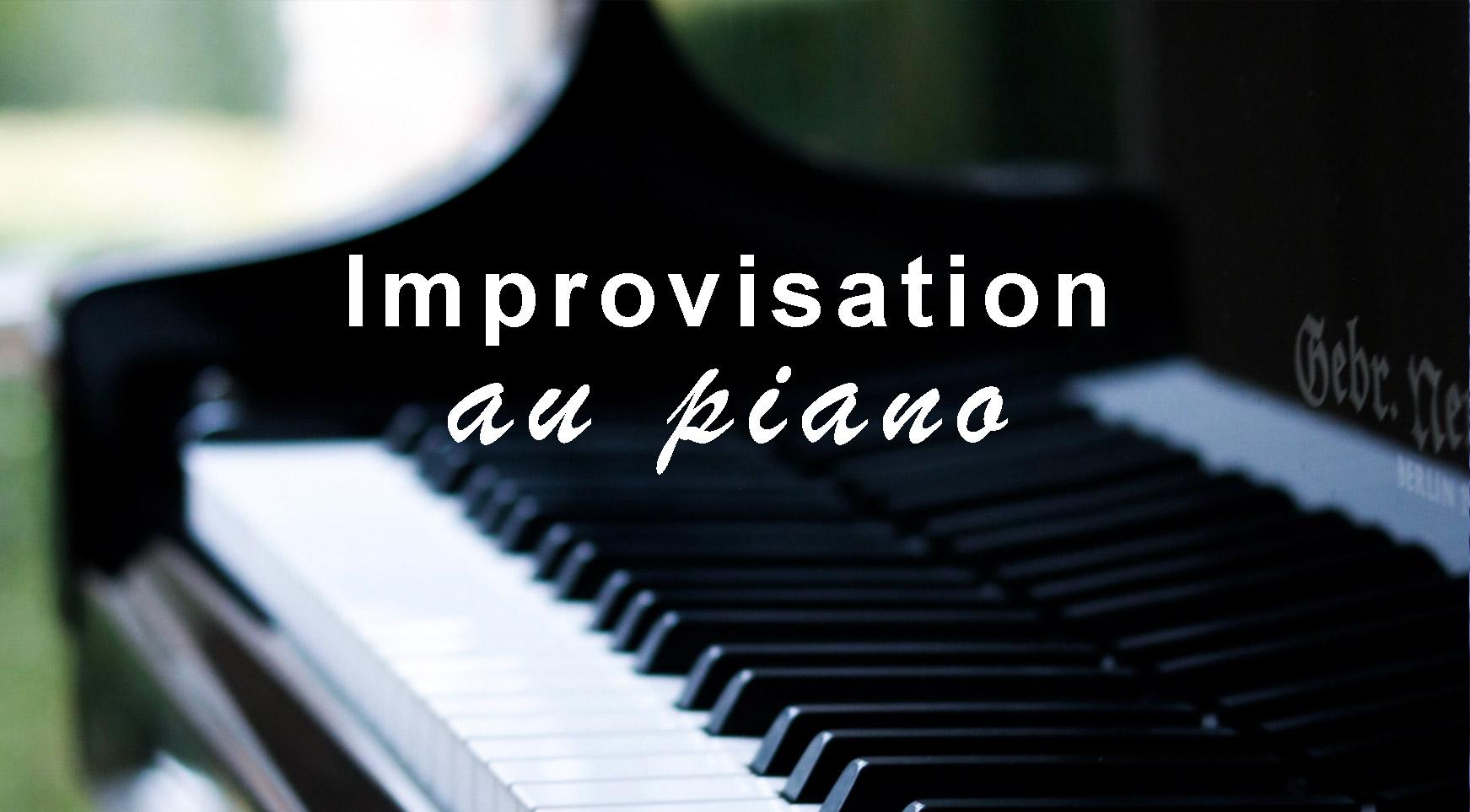 Image de couverture article Improvisation au Piano : titre et vue sur touches d'un piano